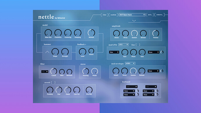 Fellusive Nettle interface